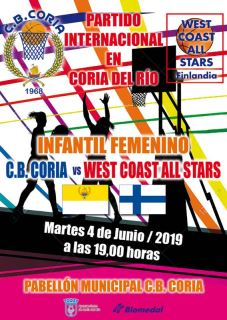 Partido Intrernacional FEM. CB CORIA - WEST COAST ALL STAR
